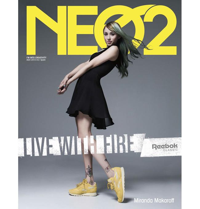 Miranda Makaroff, portada de NEO2 patrocinada por Reebok