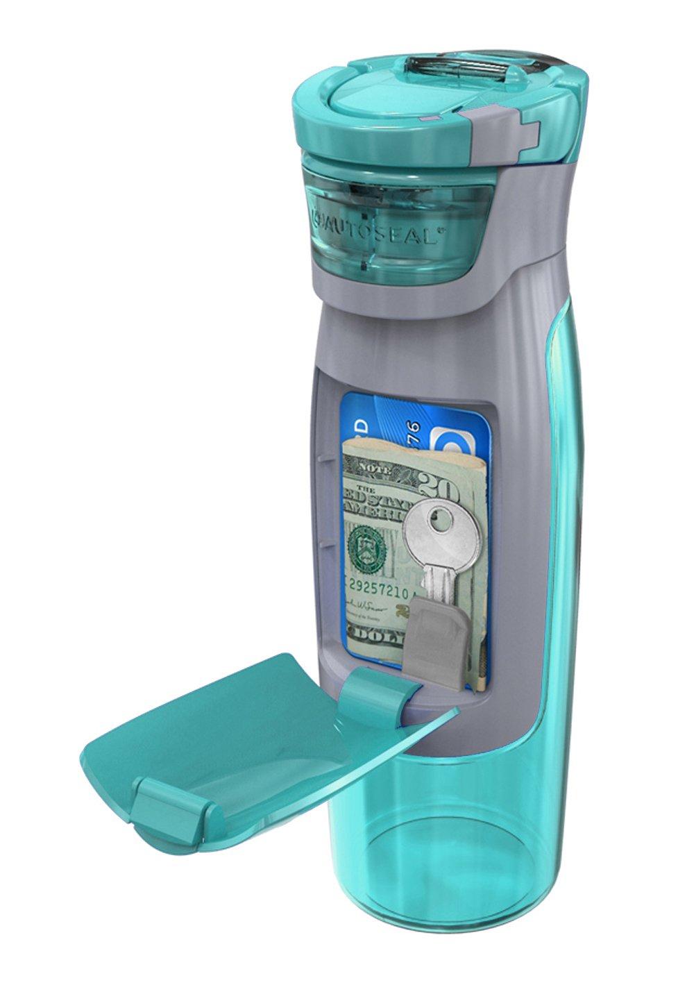9. Botella de agua con billetera incorporada