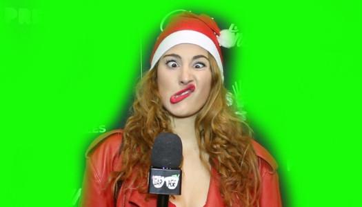 La alfombra azul canta Feliz Navidad #Premios40Ballantines