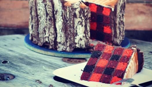 Tarta de cuadros de leñador canadiense