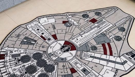 Alfombra con forma de Millenium Falcon de Star Wars