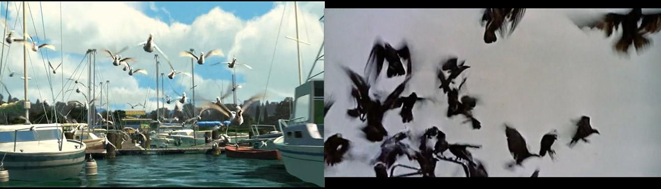 Buscando a Nemo (2003) : Los pajaros (1963)