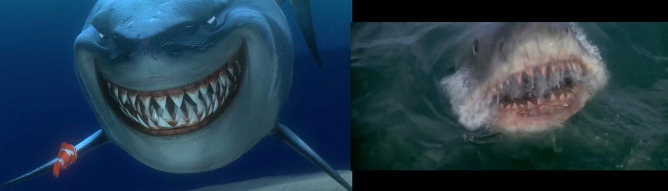 Buscando a Nemo (2003) : Tiburon (1975)