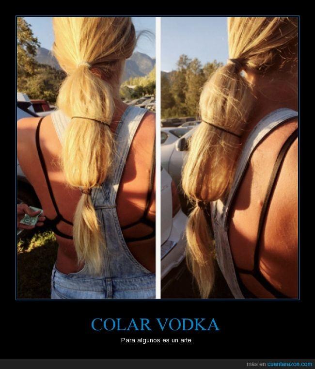 Coleta botella vodka