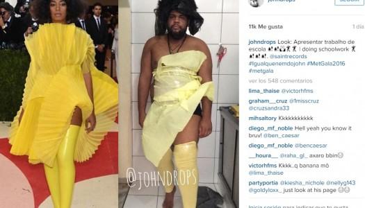 ¡Un bloguero imita los modelos de la Gala Met!