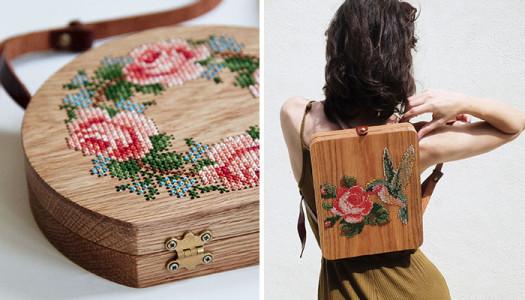 Grava Grava realiza bolsos de madera