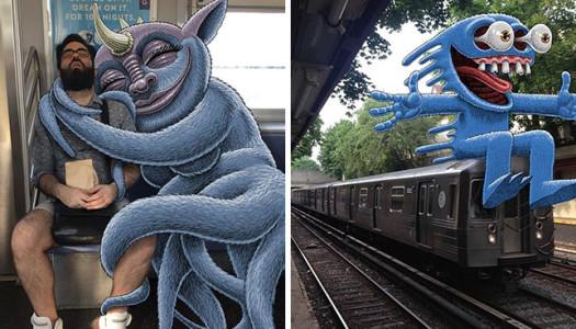 ¡Monstruos en el metro!