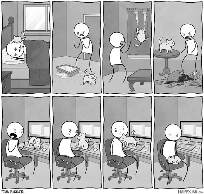 gatos dibujos comics  (11)