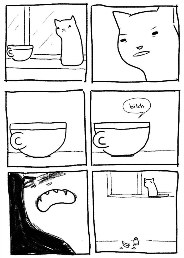 gatos dibujos comics  (12)