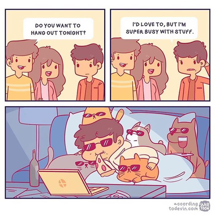 gatos dibujos comics  (18)