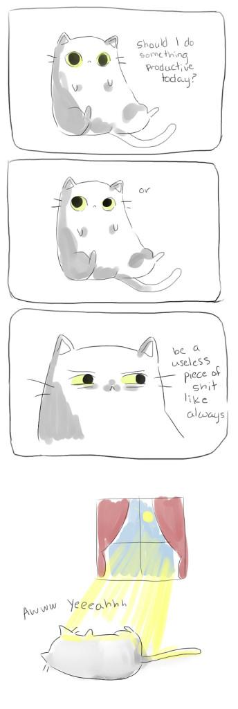 gatos dibujos comics  (4)