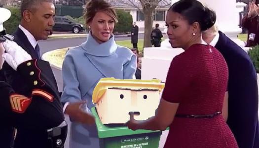 Trump en todas partes, hasta en la basura