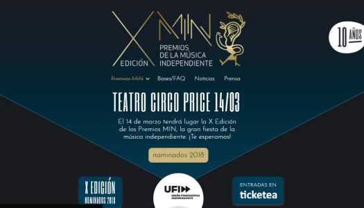 Los premios MIN celebran su X edición y estos son los nominados
