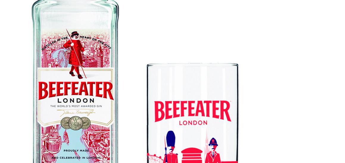 Beefeater&AbetheApe-Botella y vaso