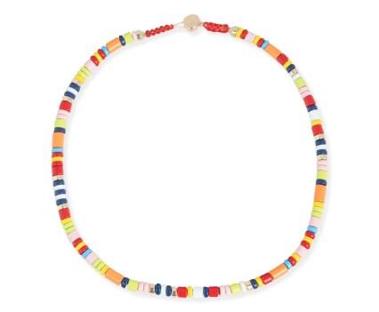 collar cuentas redondas multicolor