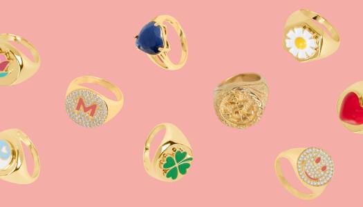Los mejores anillos para sumarse a la tendencia de los sellos
